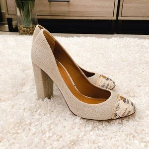 Tory Burch Ethel Linen pumps with box